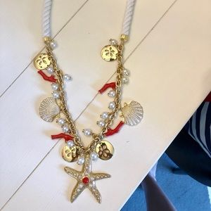 Lilly Pulitzer rope gold starfish pearl necklace